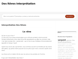 interpretationdesreve.com screenshot