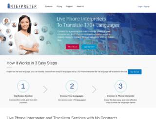 interpreter.com screenshot