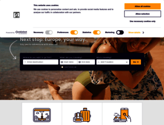 interrail.eu screenshot