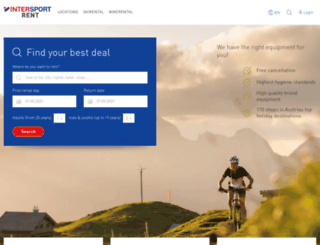 intersportrent.at screenshot