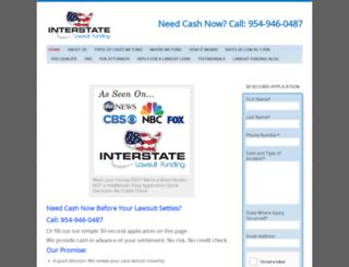 interstatelawsuitfunding.com screenshot