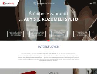 interstudy.sk screenshot