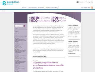 interventionseconomiques.revues.org screenshot