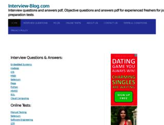 interview-blog.com screenshot