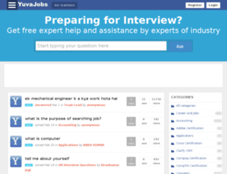 interviewquestions.yuvajobs.com screenshot