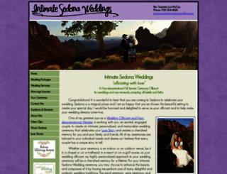 intimatesedonaweddings.com screenshot