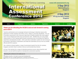 intl-assessment.org screenshot