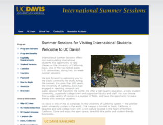 intlsummer.ucdavis.edu screenshot