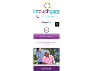 intouchcare.co.uk screenshot