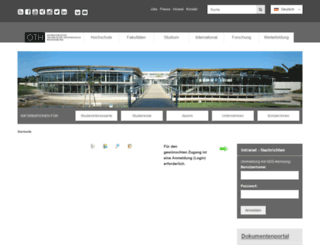 intra.hs-regensburg.de screenshot