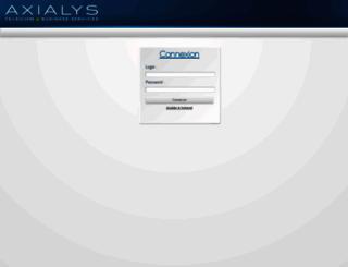 intra2.axialys.net screenshot