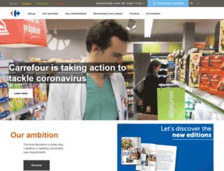 intragroup.carrefour.com screenshot