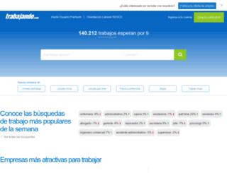 intralot.trabajando.com screenshot
