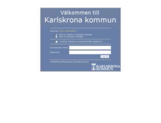 intranat.karlskrona.se screenshot