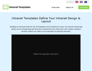 intranet-templates.com screenshot