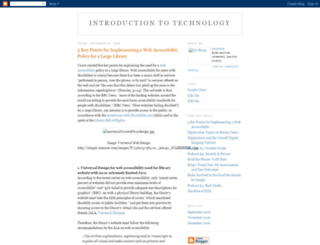 introductiontotechnology.blogspot.nl screenshot