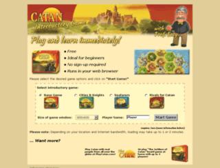 introgame.playcatan.com screenshot
