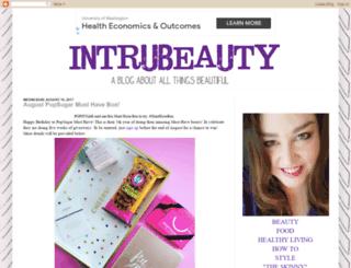 intrubeauty.com screenshot