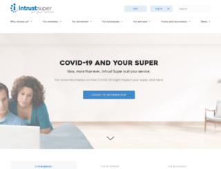 intrustsuper.com.au screenshot