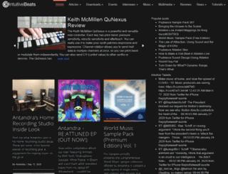 intuitivebeats.com screenshot