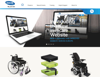 invacare.eu.com screenshot