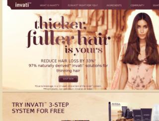 invati.aveda.com screenshot