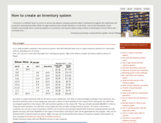 inventory-system.com screenshot