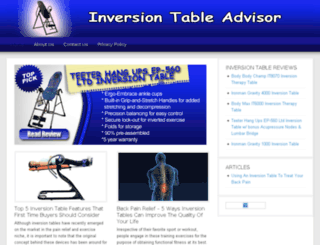 inversiontableadvisor.com screenshot