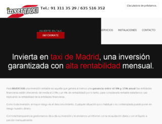 invertaxi.es screenshot