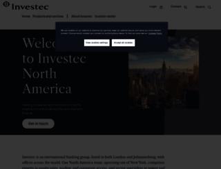 investec.com screenshot
