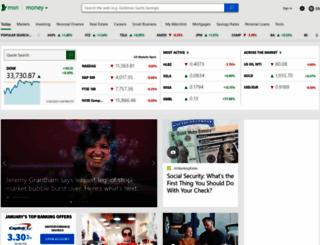 investing.money.msn.com screenshot