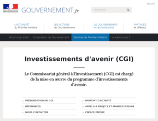 investissement-avenir.gouvernement.fr screenshot