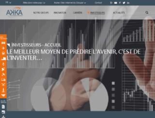 investisseur.akka.eu screenshot