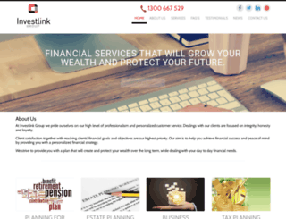 investlinkgroup.com.au screenshot