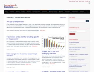 investmentandbusinessnews.co.uk screenshot