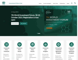 investmentpolicyhub.unctad.org screenshot