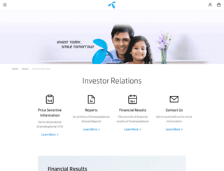 investor-relations.grameenphone.com screenshot