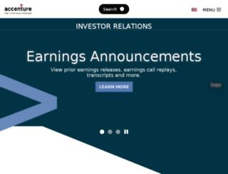 investor.accenture.com screenshot