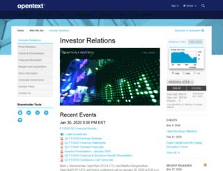 investor.carbonite.com screenshot