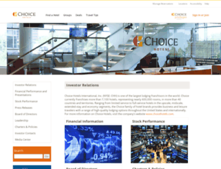 investor.choicehotels.com screenshot