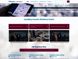 investor.cloudbuy.com screenshot