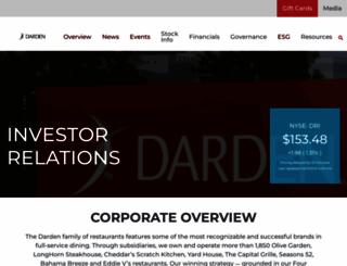 investor.darden.com screenshot