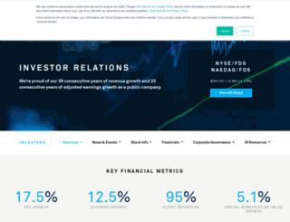 investor.factset.com screenshot