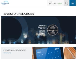 investor.harman.com screenshot