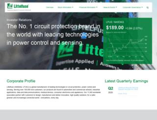 investor.littelfuse.com screenshot