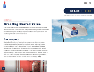 investor.mapleleaf.ca screenshot