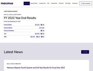 investor.maximus.com screenshot