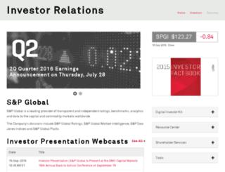investor.mcgraw-hill.com screenshot