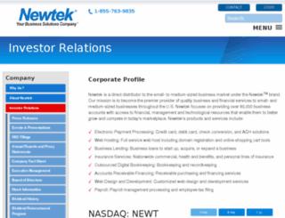 investor.newtekbusinessservices.com screenshot