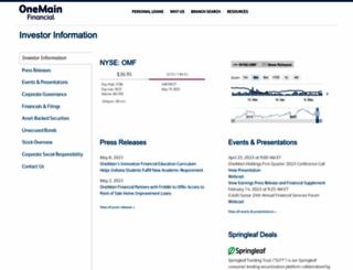 investor.onemainfinancial.com screenshot